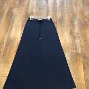 Michael by Michael Kors Navy Blue Maxi Skirt